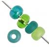 Ponybead 2/0 Green Mix